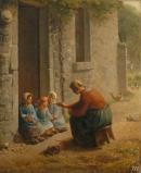 La becquée - Jean François Millet