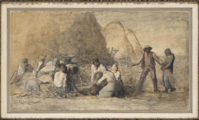 Le repas des moissonneurs - Jean François Miller